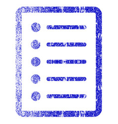 List page grunge textured icon vector