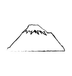 mountain snow peak natural sketch vector image