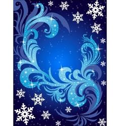 Winter postcard vector image vector image