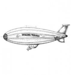 airship pencil drawing vector image vector image