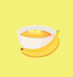 Banana jam healthy breakfast food isolated vector