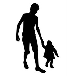 Boy and little girl vector