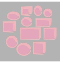 Cartoon frames vector image
