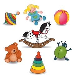 Children Toy Set vector image
