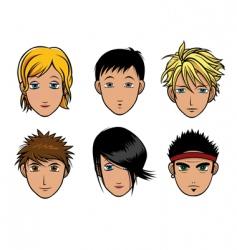 girl boy vector image vector image