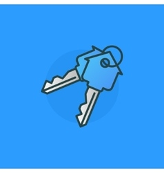 House keys colorful sign vector image