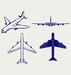 Jets symbols vector image vector image