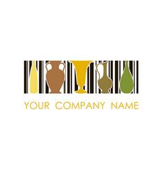 logo for ceramic workshop concept design vector image