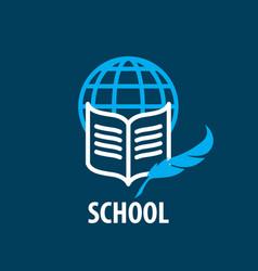 logo school vector image