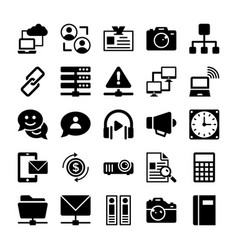 network and communication icons 7 vector image