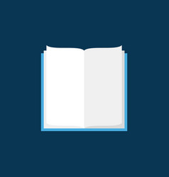 open book flat icon on blue background vector image
