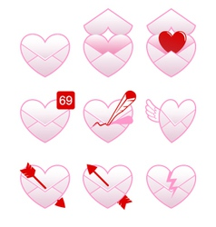 Love Message Icons vector image vector image