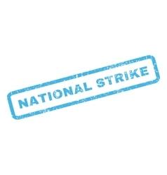 National strike rubber stamp vector