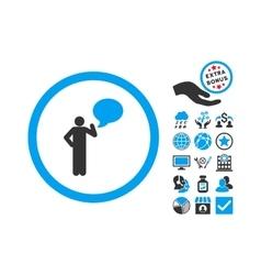 Person Idea Flat Icon With Bonus vector image vector image