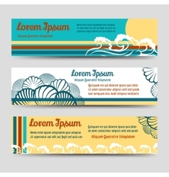 Sea style horizontal banners set vector image vector image