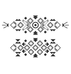 tribal elements ethnic collection aztec vector image vector image