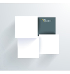 White and black frames on the wall vector image