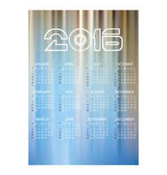 2016 simple business wall calendar abstract blue vector