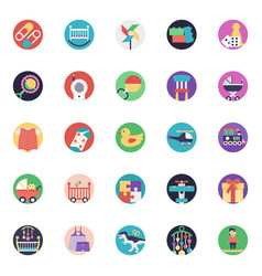A icons set of baby and kids vector