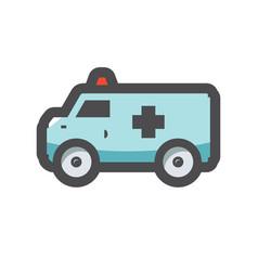 ambulance car fast medical help cartoon vector image