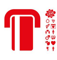 Atm icon with love bonus vector