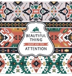 Aztec fashion seamless pattern vector image