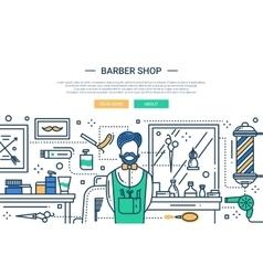 Baerber Shop In the City - website banner vector image