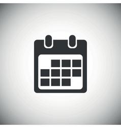 Black calendar icon 2 vector