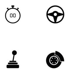 car race icon set vector image