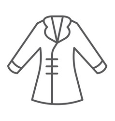 coat thin line icon clothing and fashion jacket vector image