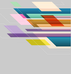 Colorful straight lines abstract background vector
