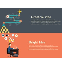 Creative idea generator bright idea modern web vector