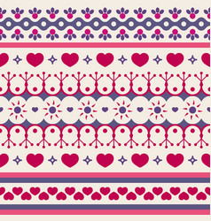 cute seamless pattern for valentines day vector image