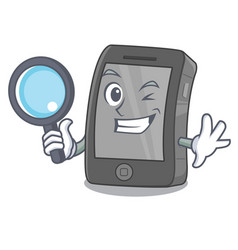 Detective ipad isolated with in character vector