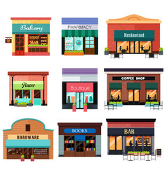 Different shop icons vector
