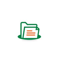 document data logo vector image
