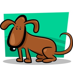 doodle dog cartoon vector image vector image