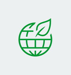 eco planet icon in thin line style vector image