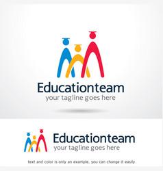Education team logo template design emblem vector