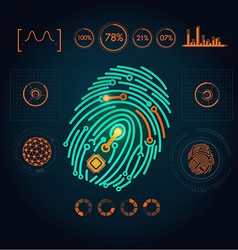 fingerPrint preview vector image