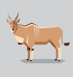 flat geometric common eland vector image