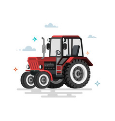 flat tractor vector image