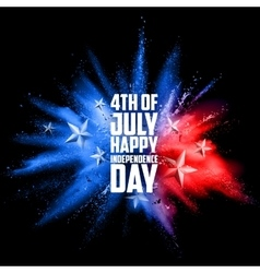 Fourth july background for happy independence vector