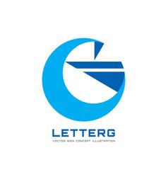 g letter - business logo template concept vector image