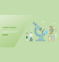 genetic science health engineering concept with vector image