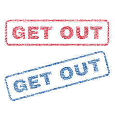 Get out textile stamps vector