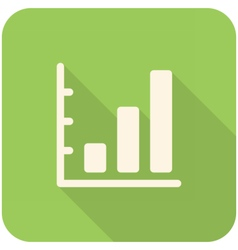 Graph Up icon vector
