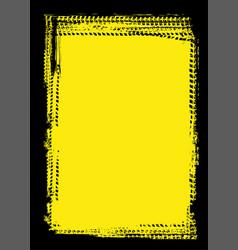 grungetire tracks frame background vector image