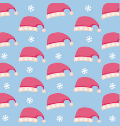 hat of christmas icon pattern vector image