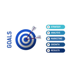Info graphics goals business strategy analysis vector
